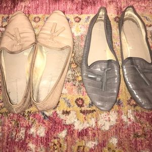 Zara loafers in nude & grey! 2 for 1 deal!